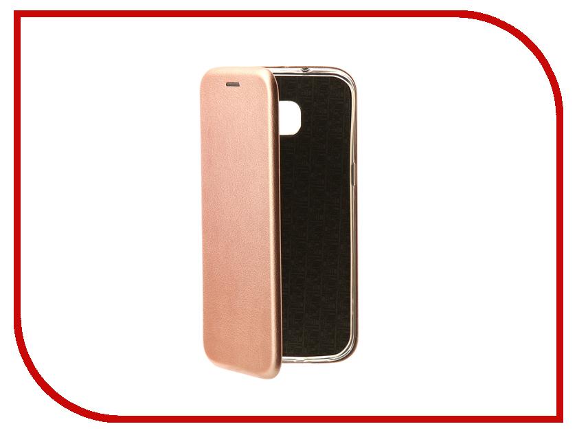Аксессуар Чехол для Samsung Galaxy S7 Edge Innovation Book Pink Gold 10533 pink tree design pu кожа флип крышку кошелек карты держатель чехол для samsung s7