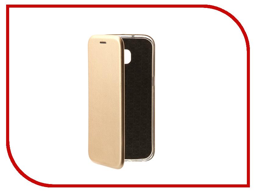 Аксессуар Чехол-книга для Samsung Galaxy S7 Edge Innovation Book Gold 10532 цена и фото