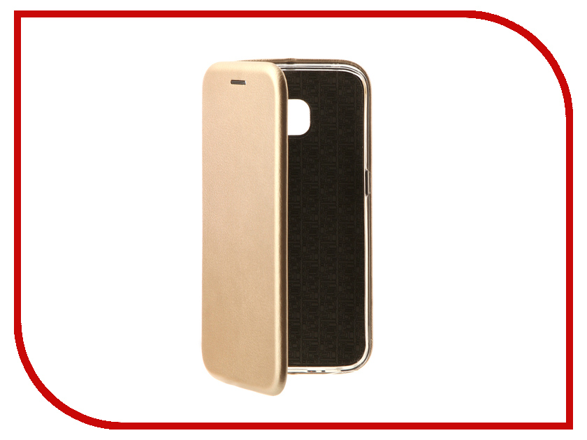 Аксессуар Чехол Samsung Galaxy S6 Edge Innovation Book Gold 10524 аксессуар чехол накладка samsung g925f galaxy s6 edge melkco black mat 7830