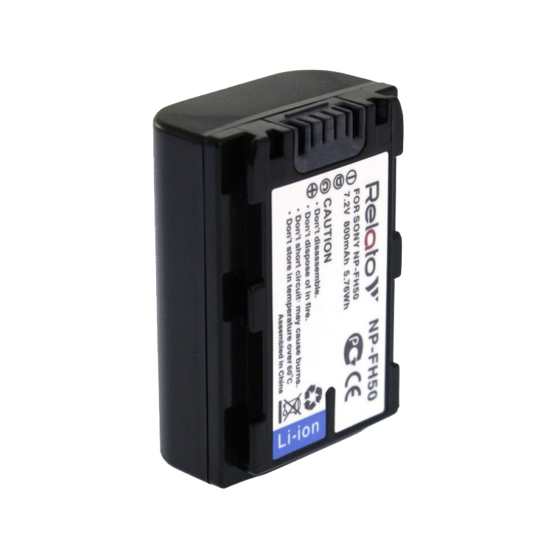 Аккумулятор Relato NP-FH50 (схожий с Sony NP-FH50) аккумулятор relato np bg1