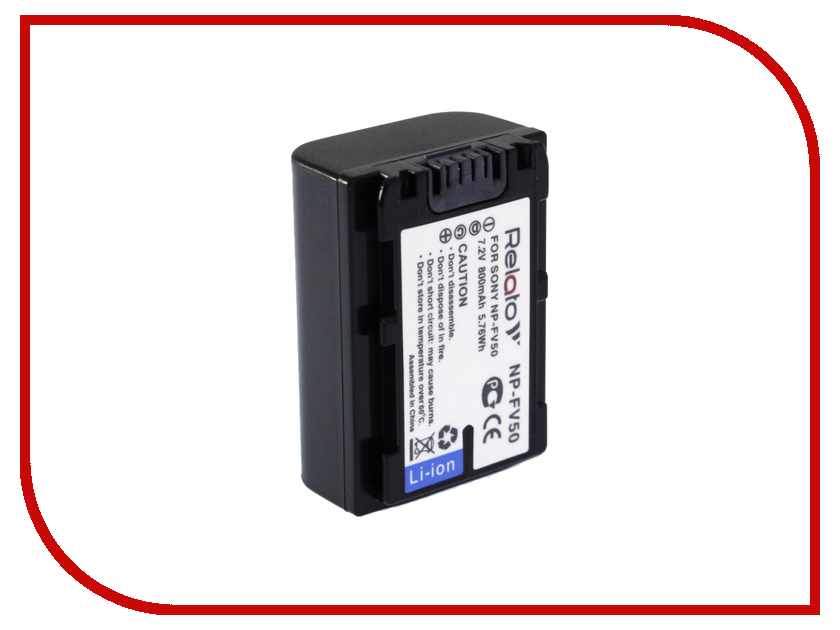 Аккумулятор Relato NP-FV50 np fv120 7 4v 4200mah rechargeable li ion battery for sony np fv30 fv50 fv70 more black