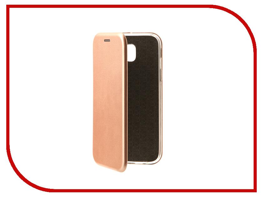 Аксессуар Чехол-книга для Samsung Galaxy J5 2017 J530F Innovation Book Pink Gold 10513 аксессуар чехол samsung galaxy j5 2016 cojess ultra slim book экокожа light gold