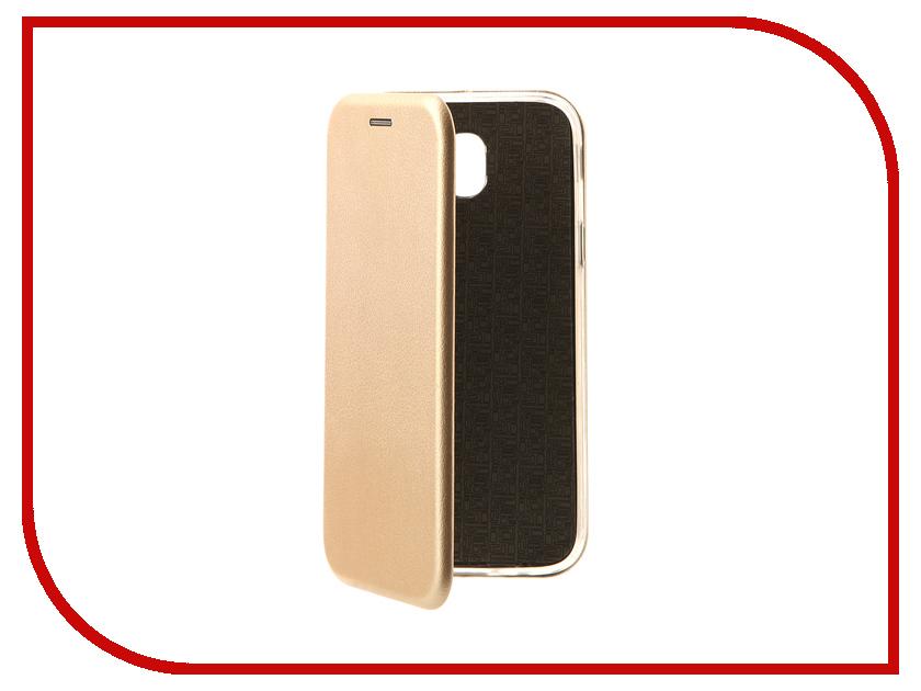 Аксессуар Чехол Samsung Galaxy J5 2017 J530F Innovation Book Gold 10512 аксессуар чехол samsung galaxy j5 2016 cojess ultra slim book экокожа light gold