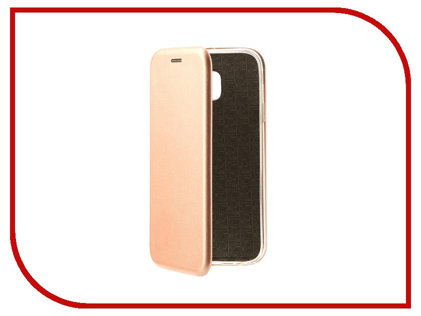 Аксессуар Чехол-книга Samsung Galaxy J3 2017 J330F Innovation Book Pink Gold 10509 аксессуар чехол накладка samsung galaxy j3 2017 skinbox silicone chrome border 4people gold t s sgj32017 008