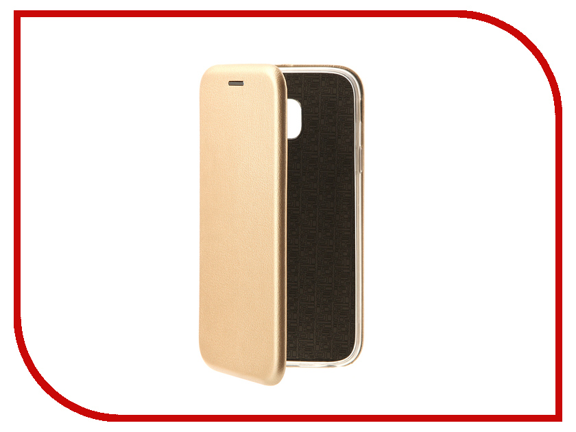 Аксессуар Чехол-книга Samsung Galaxy J3 2017 J330F Innovation Book Gold 10508 аксессуар чехол накладка samsung galaxy j3 2017 skinbox silicone chrome border 4people gold t s sgj32017 008