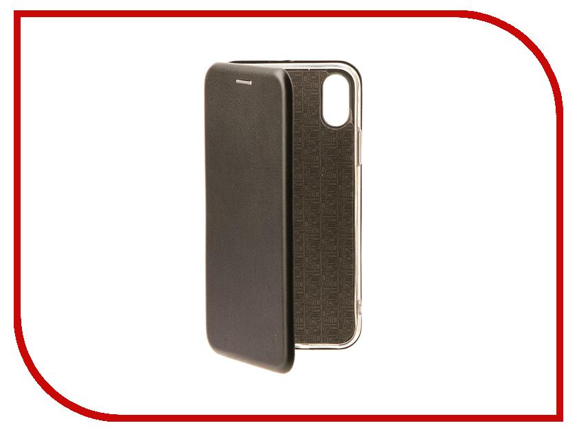 Аксессуар Чехол Innovation Book для APPLE iPhone X Black 10547 аксессуар чехол innovation jeans для apple iphone 7 8 white 10774
