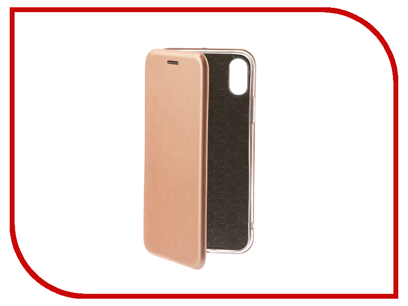 Аксессуар Чехол-книга Innovation Book для APPLE iPhone X Pink-Gold 10545 аксессуар чехол innovation jeans для apple iphone 7 8 white 10774