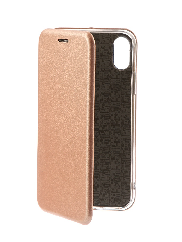 Чехол-книга Innovation для APPLE iPhone X Book Pink-Gold 10545