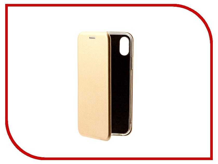Аксессуар Чехол-книга Innovation Book для APPLE iPhone X Gold 10544