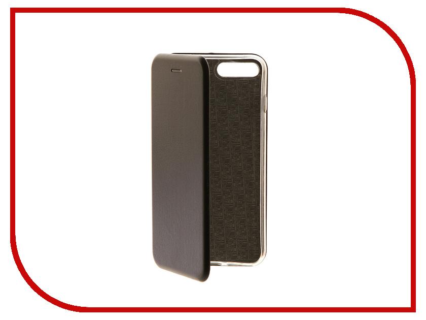 Аксессуар Чехол-книга Innovation Book Black для APPLE iPhone 7 Plus 10548 аксессуар чехол бампер burkley snap on для apple iphone 7 plus black bmcujblrst1i7p
