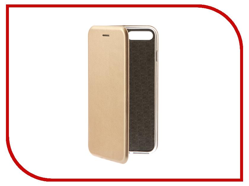 Аксессуар Чехол-книга Monsterskin Book Gold для APPLE iPhone 7 Plus 10551 аксессуар защитное стекло monsterskin 5d для apple iphone 6 plus white