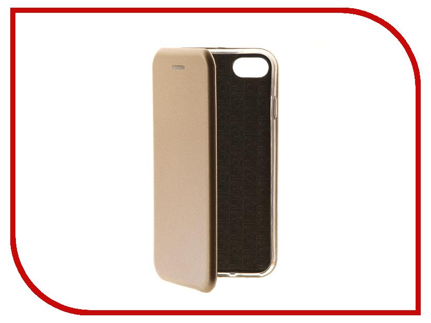 Аксессуар Чехол-книга Innovation Book Gold для APPLE iPhone 7 10554 аксессуар защитное стекло activ 3d gold для apple iphone 7 69556