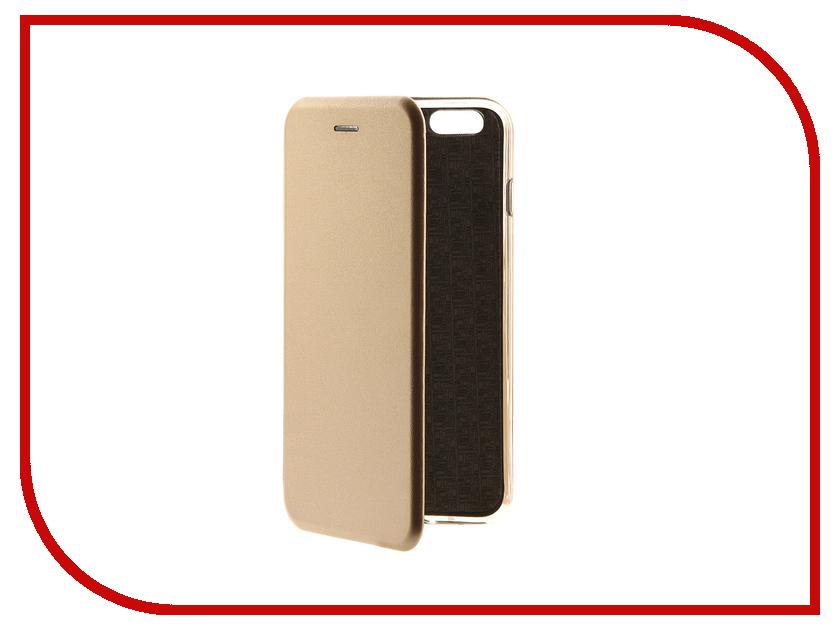 Аксессуар Чехол-книга Innovation Book для APPLE iPhone 6 Plus/6S Plus Gold 10559 interstep frame чехол для apple iphone 6 plus 6s plus gold
