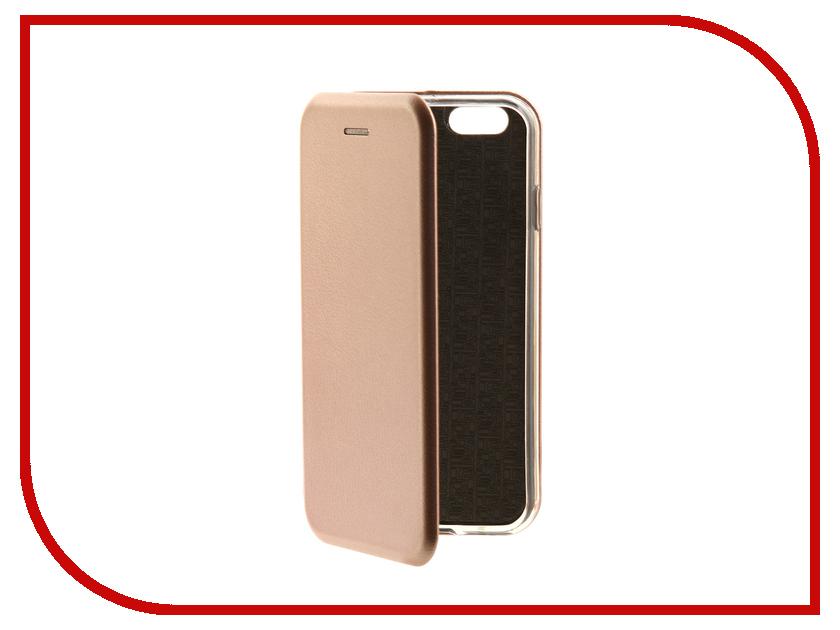 Аксессуар Чехол-книга Innovation Book для APPLE iPhone 6/6S Pink-Gold 10561 аксессуар чехол innovation book для apple iphone 6 6s plus black 10556