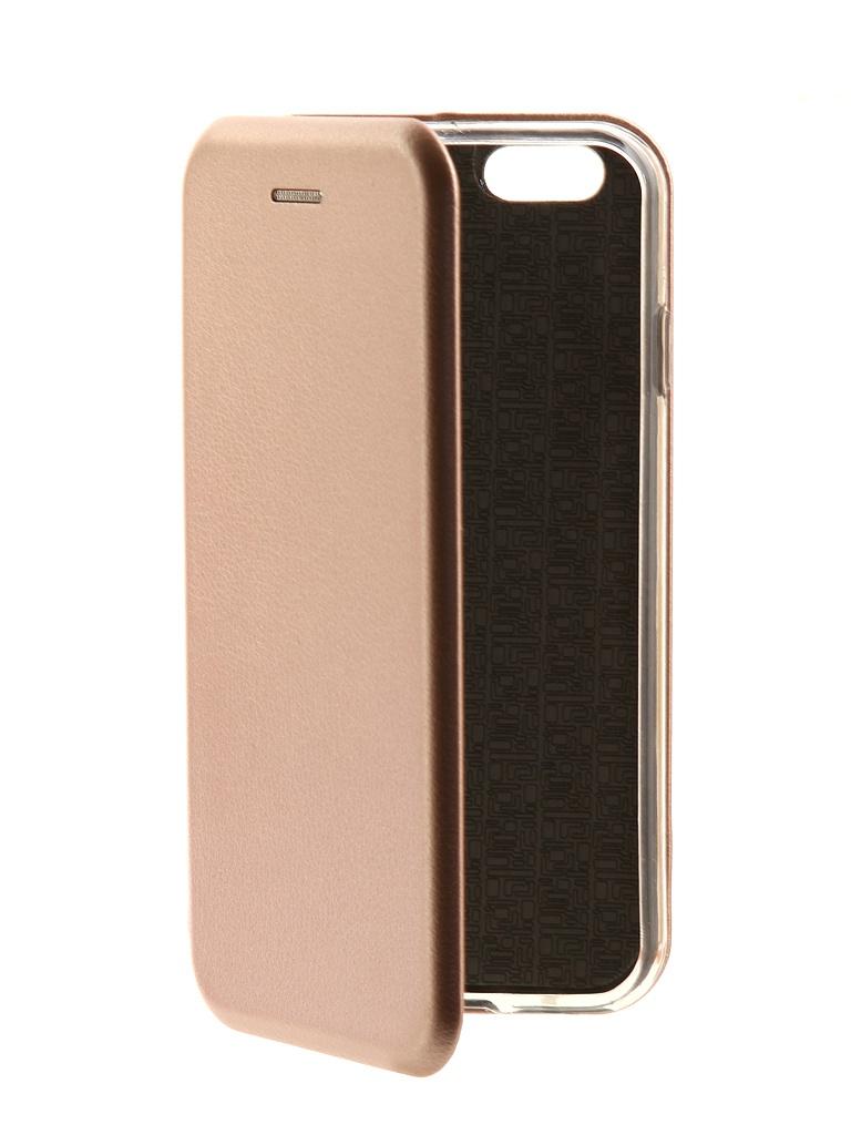 Аксессуар Чехол-книга Innovation для APPLE iPhone 6 / 6S Book Pink-Gold 10561