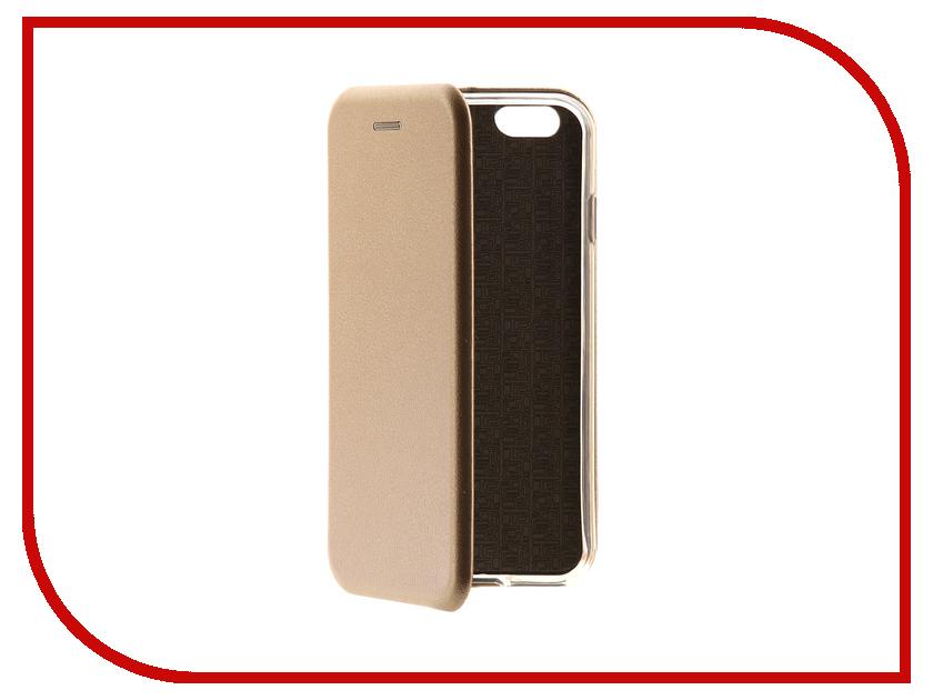 Аксессуар Чехол-книга Monsterskin Book Gold для APPLE iPhone 6/6S 10562 аксессуар защитная плёнка monsterskin 360 s clear для apple iphone 6 plus