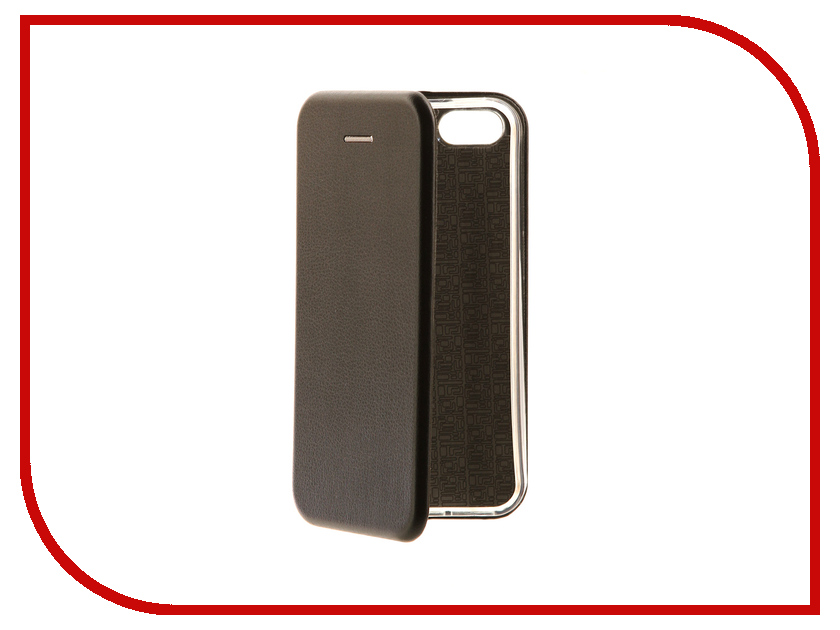 Аксессуар Чехол для APPLE iPhone 5 / 5S / SE Innovation Book Black 10564 аксессуар чехол innovation silicone case для apple iphone 5g 5s 5se black 10242