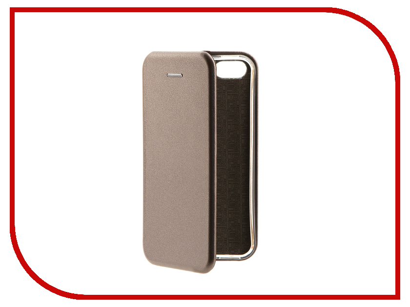 Аксессуар Чехол-книга Innovation Book Silver для APPLE iPhone 5/5S/SE 10565 аксессуар чехол ibox blaze для apple iphone 5 5s se pink