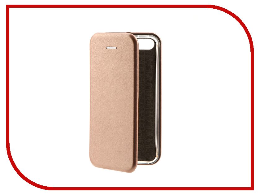 Аксессуар Чехол-книга для APPLE iPhone 5 / 5S / SE Innovation Book Pink-Gold 10566 аксессуар чехол innovation jeans для apple iphone 5g 5s 5se beige 10761