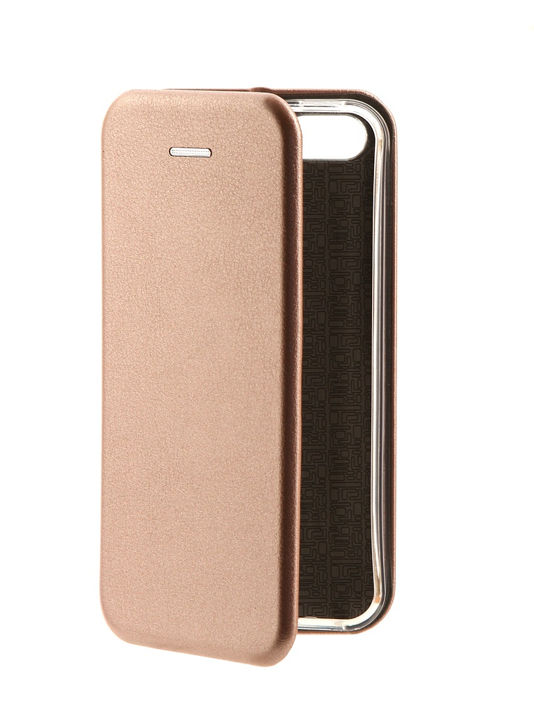 Чехол-книга Innovation для APPLE iPhone 5 / 5S SE Book Pink-Gold 10566
