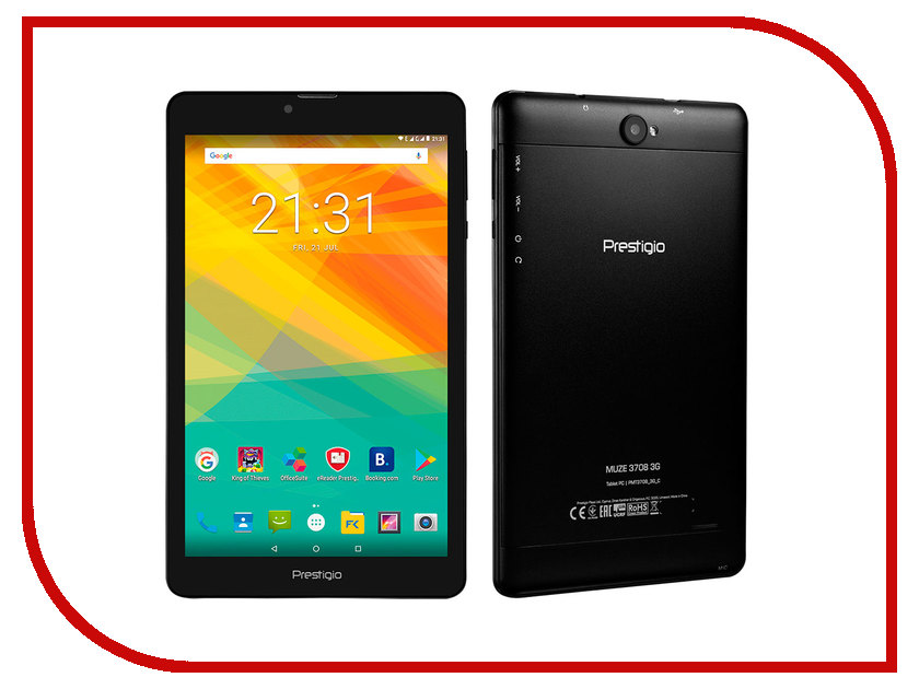 Планшет Prestigio Muze 3708 3G PMT3708_3G_C_CIS (Quad Core 1.3 GHz/1024Mb/8Gb/GPS/3G/Wi-Fi/Bluetooth/Cam/8.0/1280x800/Android) no 1 d6 3g smartwatch wifi 1gb 8gb mtk6580 quad core bluetooth gps watch phone heart rate monitor smart watch android 5 1 pk d5