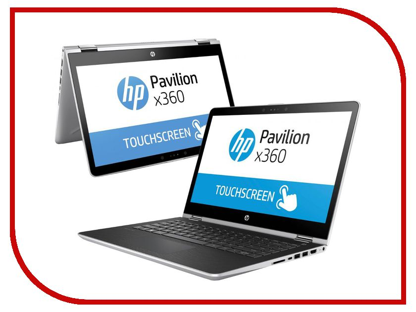 Ноутбук HP Pavilion x360 14-ba016ur 1ZC85EA (Intel Core i3-7100U 2.4 GHz/6144Mb/500Gb/No ODD/nVidia GeForce 940MX 2048Mb/Wi-Fi/Bluetooth/Cam/14/1920x1080/Touchscreen/Windows 10 64-bit) hewlett packard hp лазерный мфу печать копирование сканирование