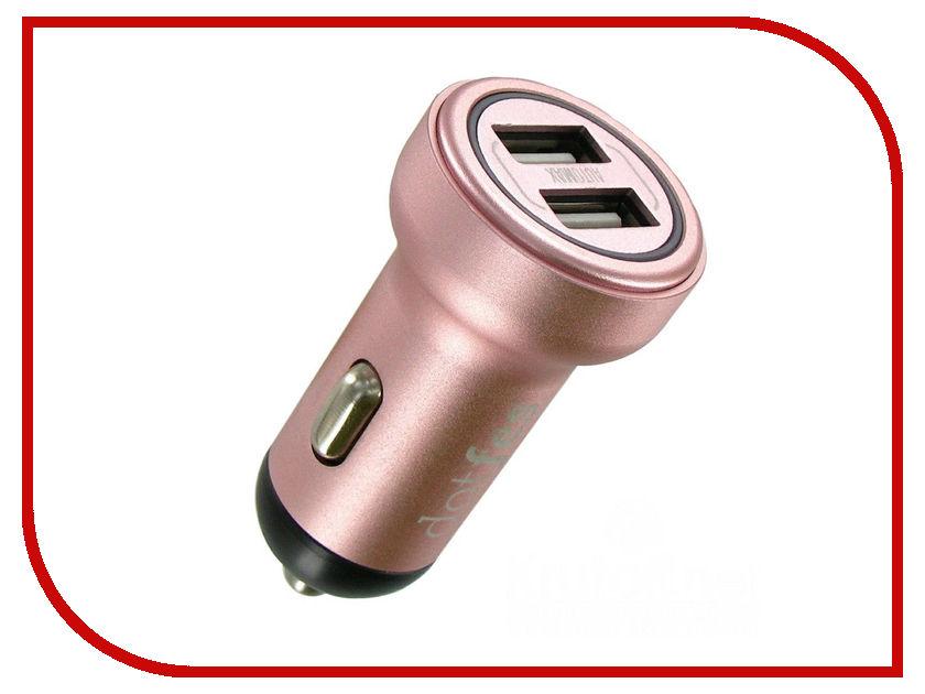 Зарядное устройство Dotfes B05 2xUSB 3.4A Rose Gold 03182 зарядное устройство dotfes b03s 2xusb 4 8a lightning gold 03179
