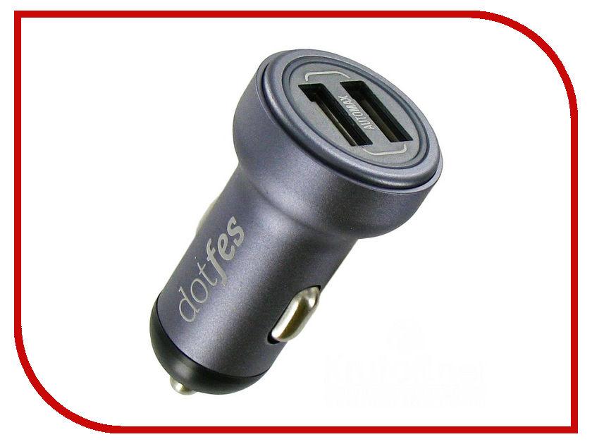 Зарядное устройство Dotfes B05 2xUSB 3.4A Tarnish 03184