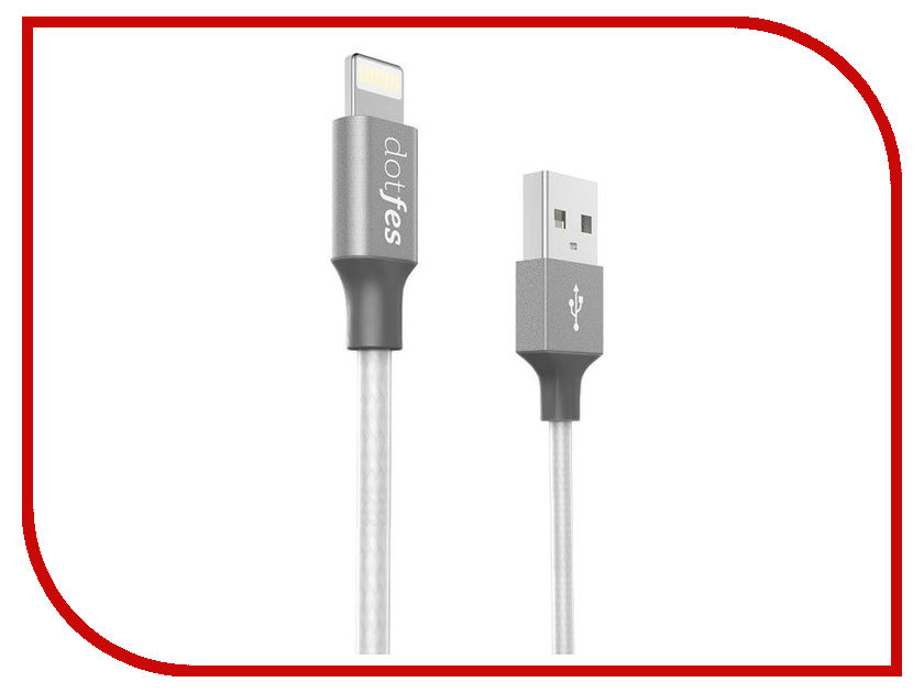 Аксессуар Dotfes USB - Lightning A03 1m Tarnish 14785 аксессуар dotfes microusb a09m self rolling 0 8m grey 14769