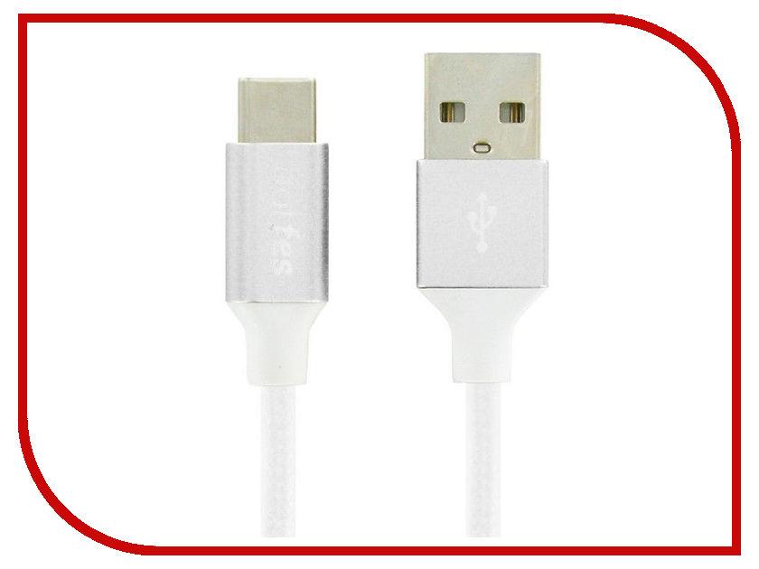 Аксессуар Dotfes USB Type-C A03T Frosted 1m White 14788 аксессуар dotfes microusb a09m self rolling 0 8m grey 14769