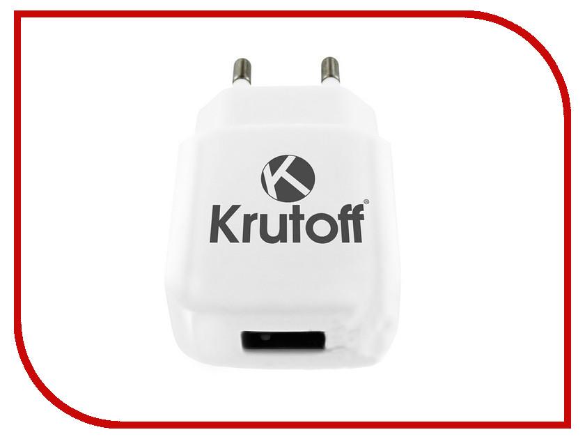 Зарядное устройство Krutoff CH-16 1xUSB + Lightning 2.1A 02192 аксессуар krutoff lightning u2 120i strong 1 2m red 14730