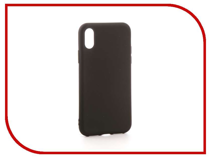 Аксессуар Чехол Neypo Soft Matte Silicone для APPLE iPhone X Black NST2606 matte protective pe back case for htc one x s720e red