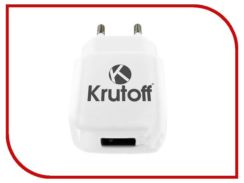 Зарядное устройство Krutoff CH-17 1xUSB + USB Type-C 2.1A 02193 50pcs micro usb 3 0 male to usb c usb 3 1 type c female extension data cable for macbook tablet 10cm by fedex