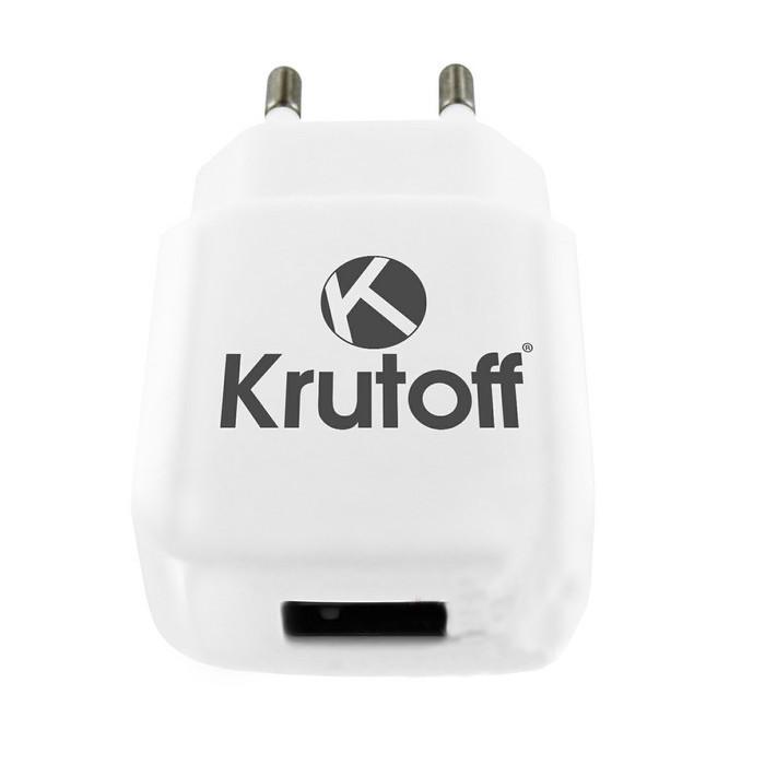 Зарядное устройство Krutoff CH-17 1xUSB + USB Type-C 2.1A 02193