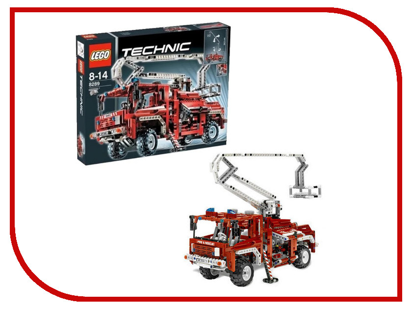 Конструктор Lego Technic Пожарный грузовик 8289 конструктор lego technic дорожная техника 42060