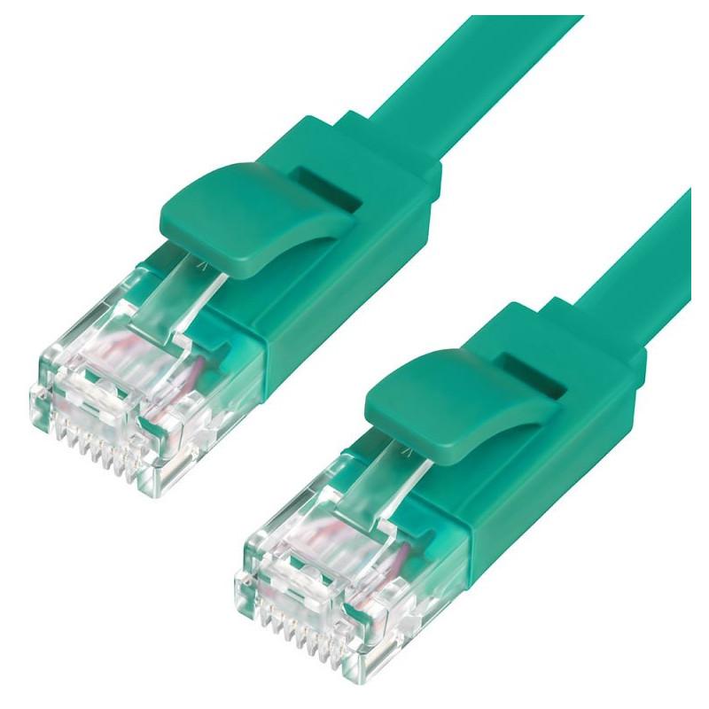 Сетевой кабель Greenconnect Premium UTP 30AWG cat.6 RJ45 T568B 3.0m Green GCR-LNC625-3.0m