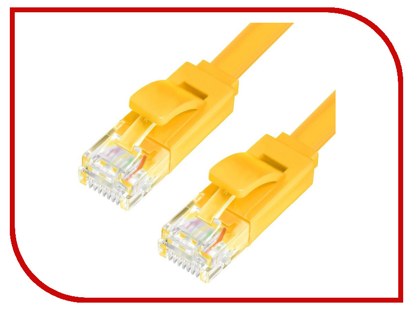 Сетевой кабель Greenconnect Premium UTP 30AWG cat.6 RJ45 T568B 0.2m Yellow GCR-LNC622-0.2m