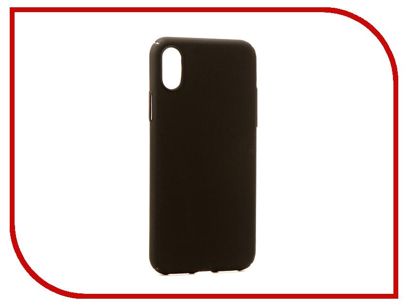 Аксессуар Чехол Neypo Soft Touch для APPLE iPhone X Black ST3155 аксессуар чехол asus zenfone 4 max zc520kl neypo soft touch black st3325