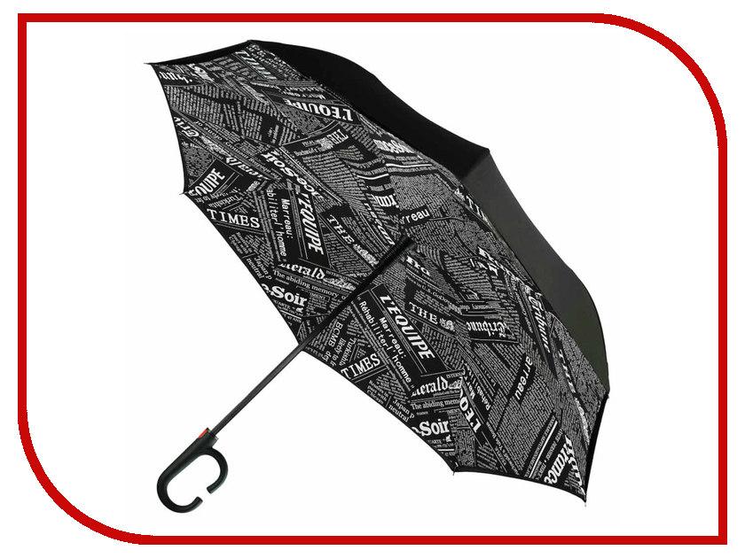 Зонт Зонт Наоборот Black Newspaper зонт other 11