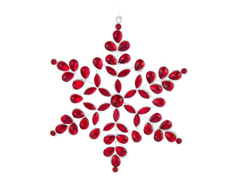 Украшение Kurt S. Adler Снежинка Аленький цветочек D3103 украшение снежинка красная christmas house