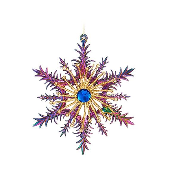 Украшение Kurt S. Adler Снежинка Павлиновая Lilac T2073