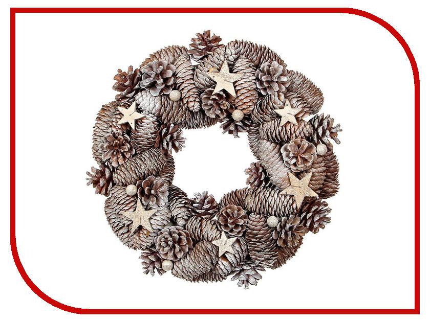 Хвойный декор Edelman Венок Шоколадно-Сливочное настроение 33cm 1029478