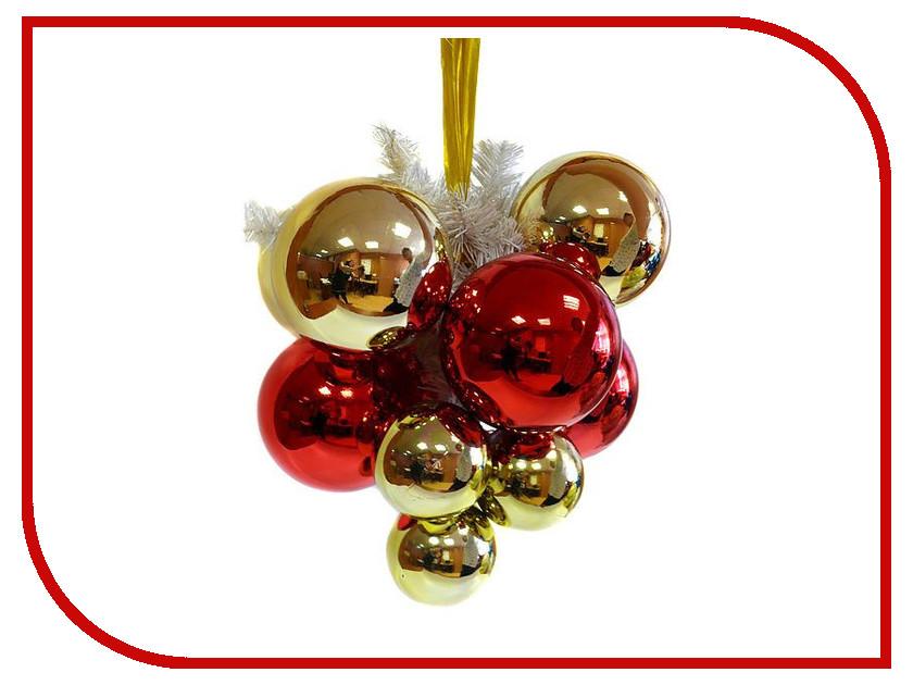 Украшение Snowmen Гроздь шаров Glossy Red-Gold ЕК0152
