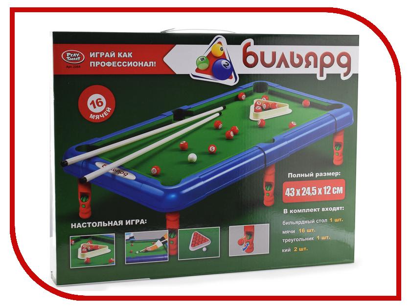 Настольная игра Play Smart Бильярд Q409-H30023 смартфон micromax q409 серебристый q409 silver