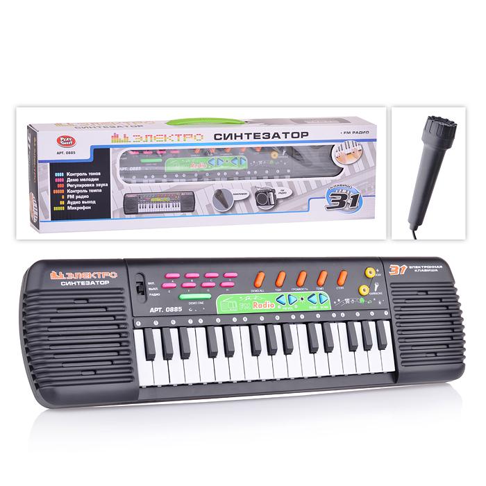 Детский музыкальный инструмент Play Smart Синтезатор S475-H29190 аксессуар защитная пленка для samsung galaxy note 8 red line tpu full screen экран задняя часть ут000012445