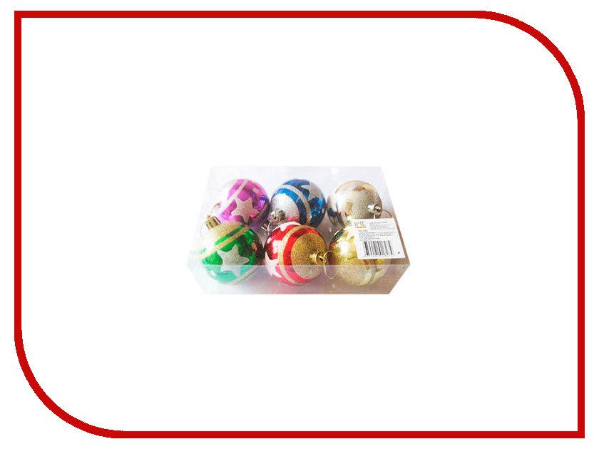 Елочные игрушки и украшения ING-040  Украшение Irit Набор шаров 6шт ING-040
