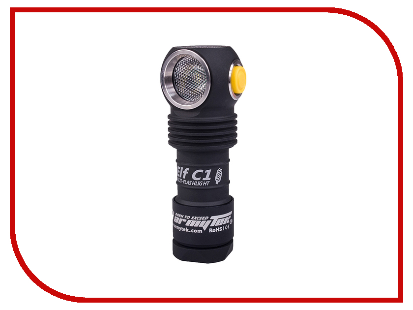 Фонарь ArmyTek Elf C1 Micro-USB + 18350 XP-L Теплый original mini klarus mi1c cree xp l hi v3 led flashlight 600 lumens edc flashlight with micro usb 16340 li ion battery