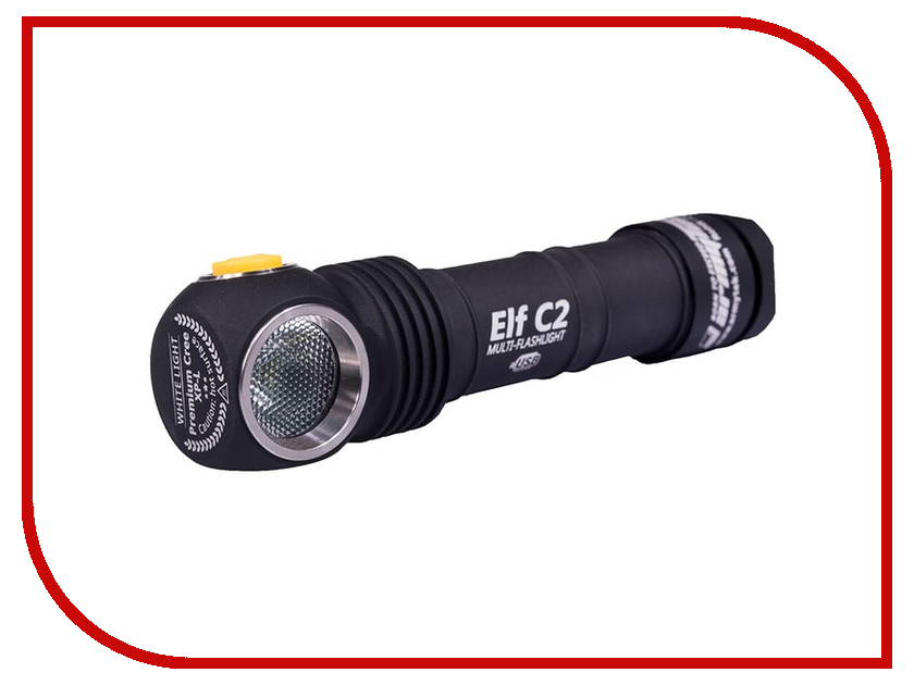Фонарь ArmyTek Elf C2 Micro-USB + 18650 XP-L original mini klarus mi1c cree xp l hi v3 led flashlight 600 lumens edc flashlight with micro usb 16340 li ion battery