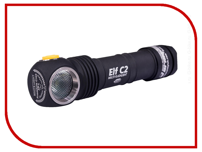 Фонарь ArmyTek Elf C2 Micro-USB + 18650 XP-L Теплый original mini klarus mi1c cree xp l hi v3 led flashlight 600 lumens edc flashlight with micro usb 16340 li ion battery