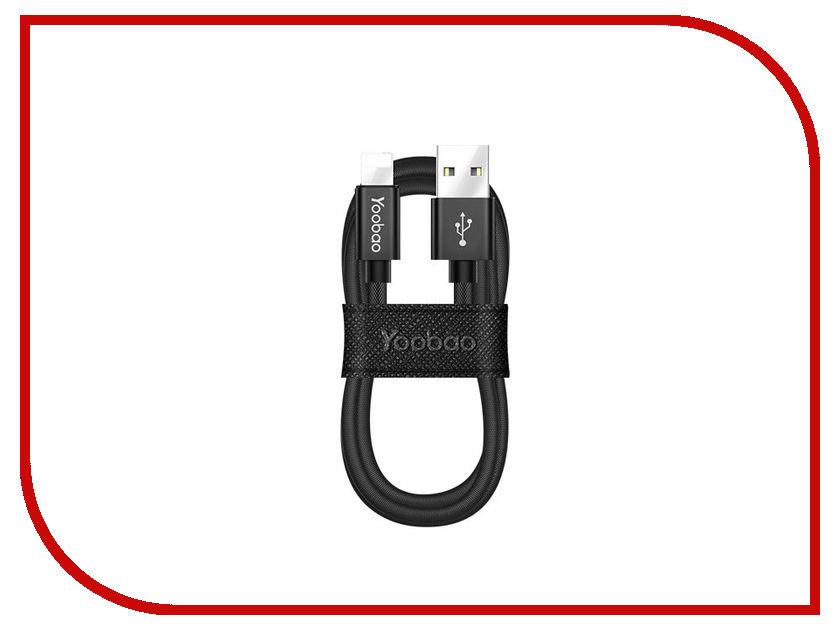 Аксессуар Yoobao Fabric USB - Lightning YB-428 Black аксессуар yoobao usb type c microusb lightning yb 453 gold